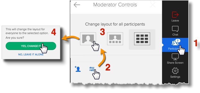 Layout options in the Active Meeting View