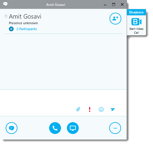 Skype for Business Add-in