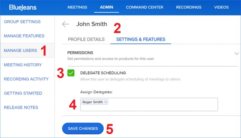 Delegate Scheduling