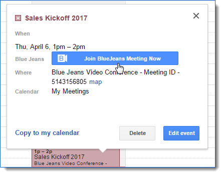 Schedule meetings from your Google Calendar using the Google