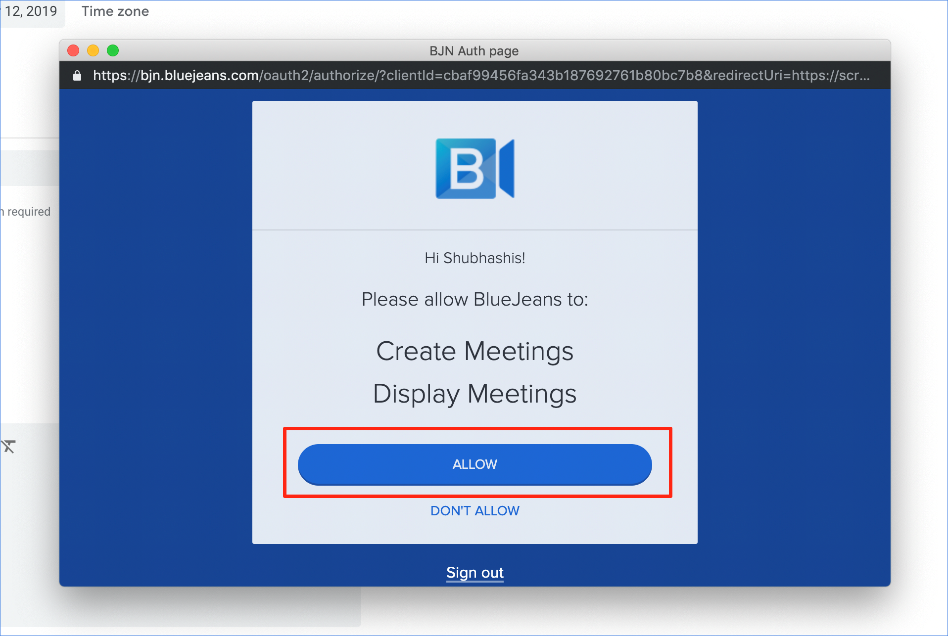 How to Schedule a BlueJeans Meeting in Google Calendar using