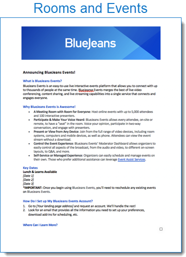 Bluejeans Launch Announcement Template