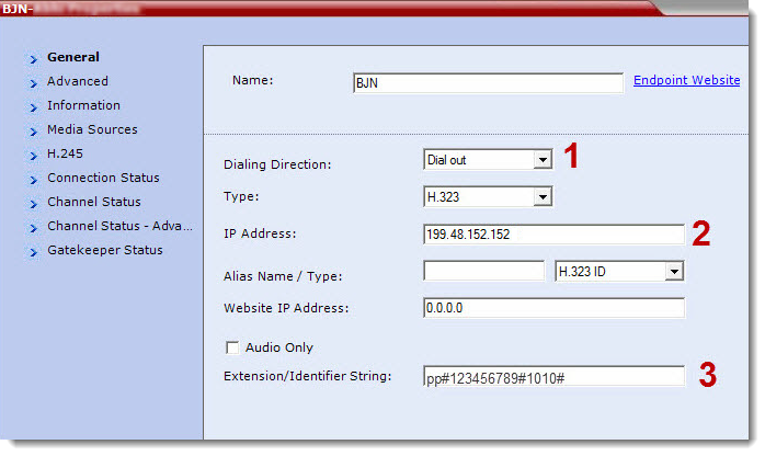 How to create a dial out cascade from a Polycom RMX to BlueJeans