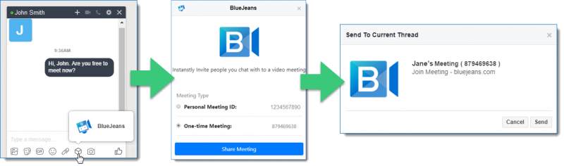 BlueJeans Bot for Workplace
